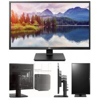 "LG 24BK550Y-B 24"" IPS Widescreen  -16:9, 1920X1080 FULL HD, 5ms, VGA, DVI, DP, 5M:1, Tilt, Height Adjustable, Speaker, 2 xUSB, VGA/DVI/DP cables inclu"