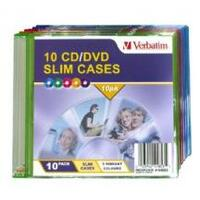 Verbatim Slim CD/DVD Case 10pk Coloured Slim Cases