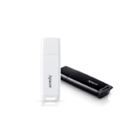 Apacer AH350 64GB USB3.0 Slim PenDrive, Black and White, Retractable Design