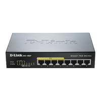 D-Link DGS-1008P 8-Port 10/100/1000 Gigabit Unmanaged Switch with POE