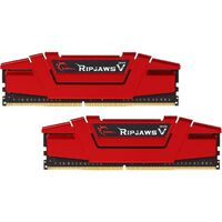 DDR4-2400 8GB Dual Channel Ripjaws V Blazing Red [F4-2400C15D-8GVR]
