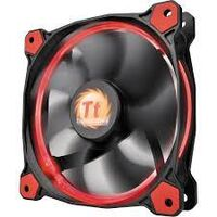 Thermaltake CL-F039-PL14RE-A, Riing 14 Red 140mm Fan, High Static Pressure, Airflow: 51.15 CFM, Noise: 28.1 dB-A, Hydraulic Bearing - 3 PIN + LNC (Low