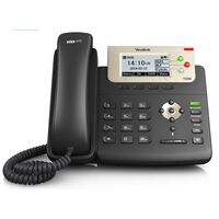 3 Line IP phone, 132x64 LCD, Dual Gigabit Ports, PoE/HDV. No Power Adapter included